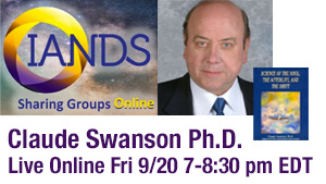 Live Event with Claude Swanson PhD Friday 9/20 at 7:00 pm EDT